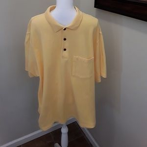 Grand Slam polo rugby shirt yellow size XL